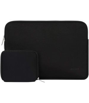 Laptop Sleeve with Small Case, Black - 13 inch