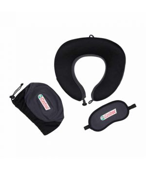 ZABARI Travel Set (Pillow and Eyemask in Pouch)